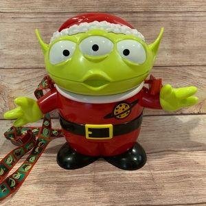 Disney Pixar Green Alien Santa Popcorn Bucket